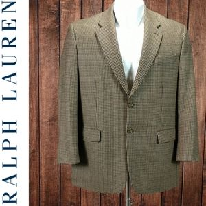 Lambs Wool Like New hounds tooth Blazer